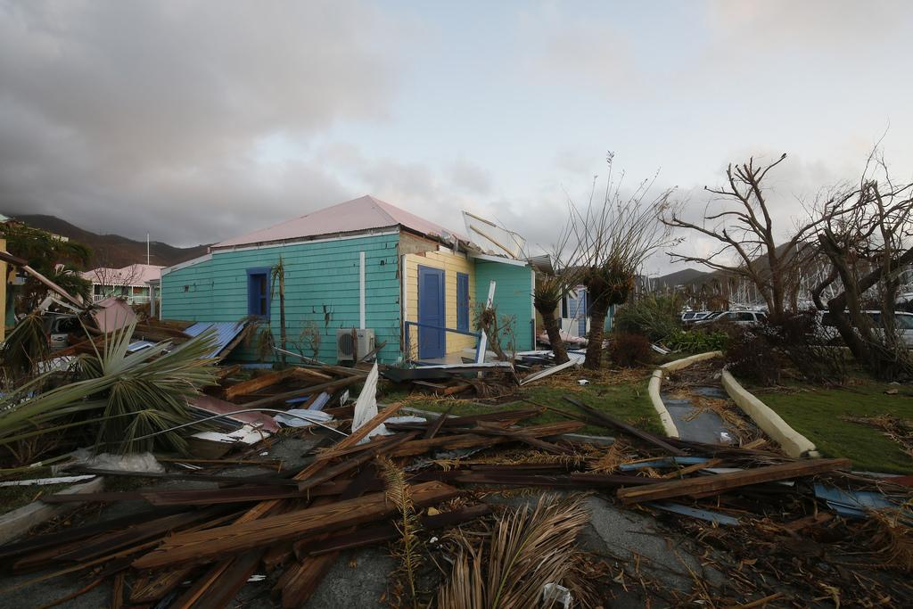 House damaged by Hurricane Irma